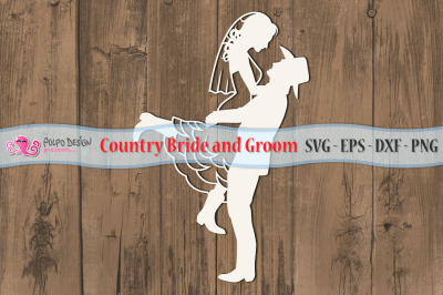 Country Bride and Groom SVG