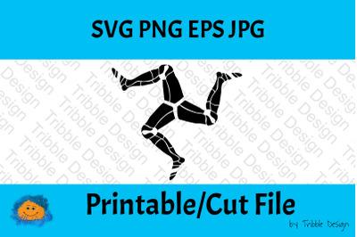3 Legs of Man, Isle of Man symbol, Printable file, Cut Files, Prints,