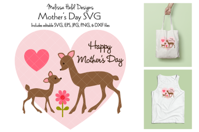 Mothers Day Graphic with Deer