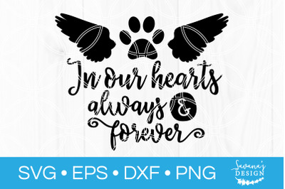 Pet Memorial SVG Cut File In Loving Memory Cat Dog Sympathy DXF EPS