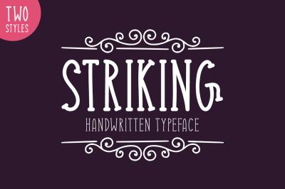 Striking Typeface