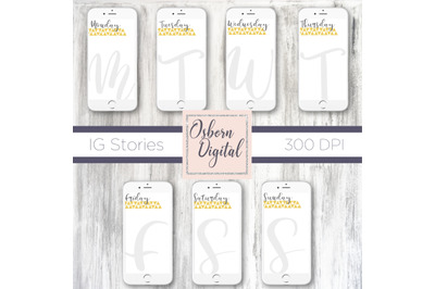 Weekday story template