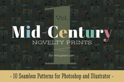 Mid-Century Retro Patterns: Volume One