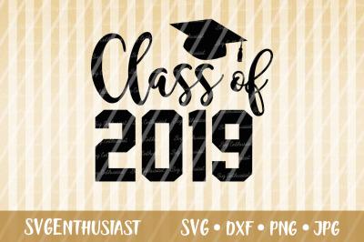 Class of 2019 SVG, Graduation SVG cut file