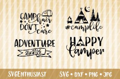 Camping bundle SVG, Camper SVG cut file