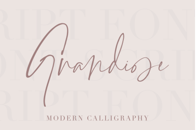 Grandiose - Stylish Signature Font