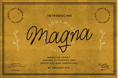 Magna - Monoline Script Font