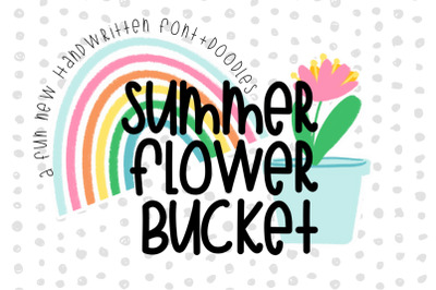 Summer Flower Bucket Font