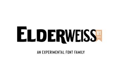 Elderweiss-An Experimental Sans Serif