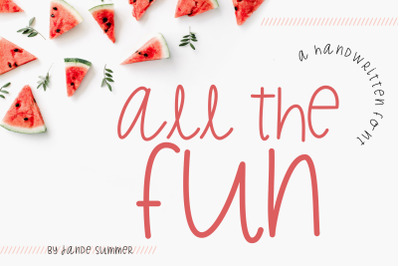 All the Fun | A NEW Handwritten Font