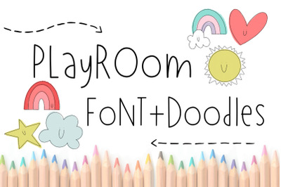 Playroom Font + Doodles