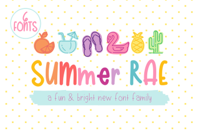 Summer Rae | Font Family of 6