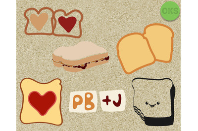peanut butter and jelly sandwich svg, eps, vector, dxf, download