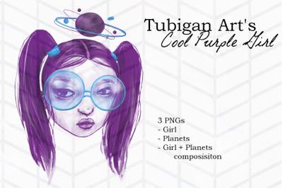 Cool Purple Girl