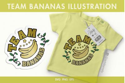 Team Bananas SVG Illustration