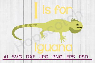 Download I for Iguana - SVG File, DXF File Free - Download