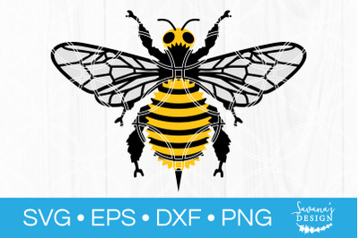 Bee SVG Honeybee Bumblebee Honey Bee Bumble Bee SVG Cut File DXF EPS