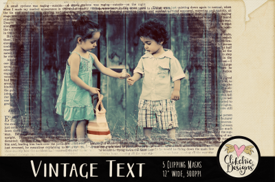 Vintage Text Photoshop Clipping Masks & Tutorial