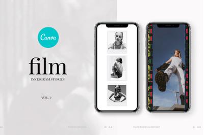60 Film frames & Polaroid - Social media template, instagram stories &