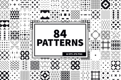 84 Seamless Patterns Set