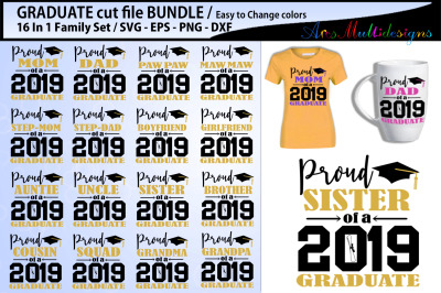 Proud Graduate Cutting file bundle / Graduate family bundle
