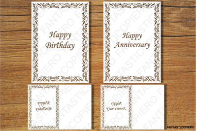 Happy Birthday, Happy Anniversary, Thank You, Greeting Card SVG files
