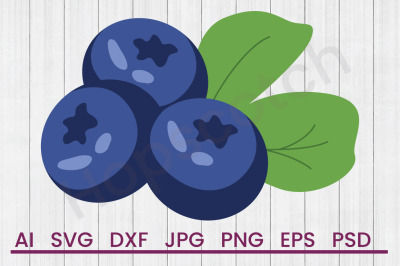 Blueberry - SVG File, DXF File