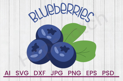 Blueberry Bunch - SVG File, DXF File