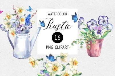 Rustic Watercolor Clip Art
