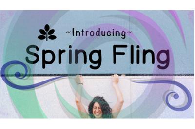 Spring Fling - Helvetica Font