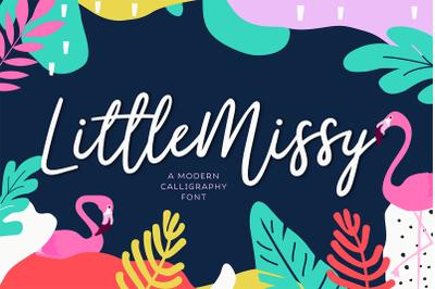 LittleMissy | A Modern Script Font