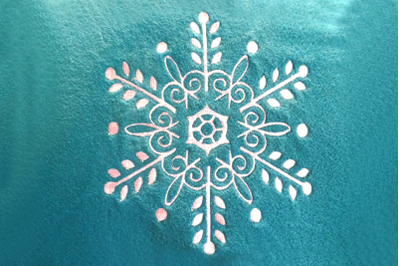 Delicate Ornate Snowflake | Embroidery