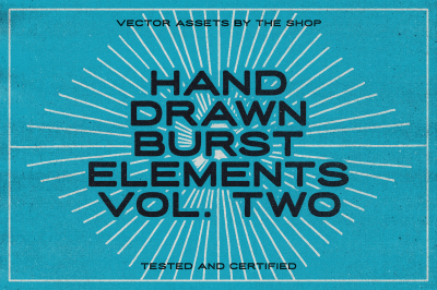 36 hand-drawn burst elements
