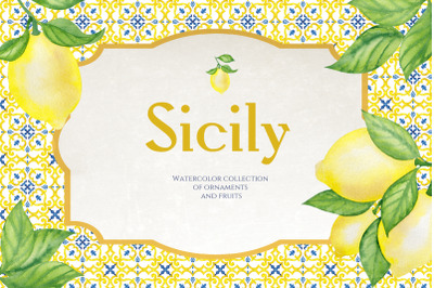 Sicily. Ornament and fruits