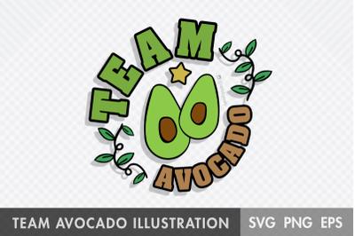 Team Avocado SVG Illustration