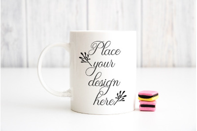 Mockup mug sublimation coffee minimal cute cup mock up stock photo