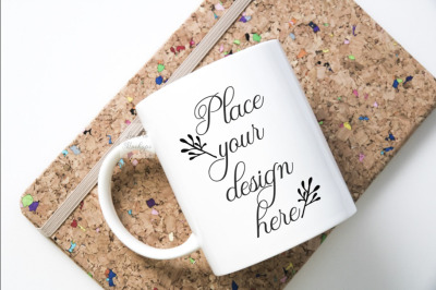 Mug mockup flatlay coffee mock up psd white cup back to school mockups