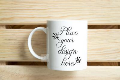 Nautic mockup coffee mug minimal neutral summer flatlay