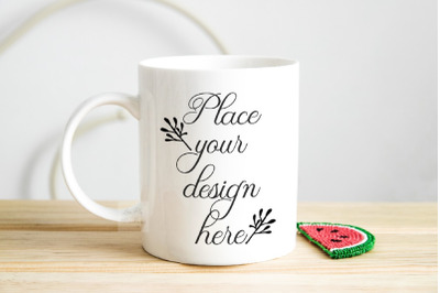 Mug mockup spring summer Sublimation 11oz coffee cup photo