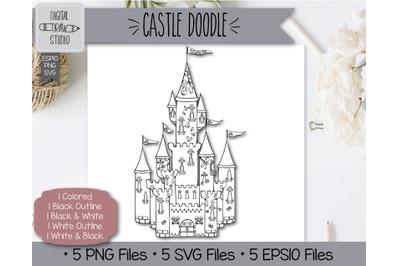Hand Drawn Princess Castle