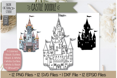 Hand Drawn Castle Clip art | Princess Royal Palace