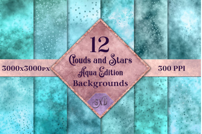 Clouds and Stars - Aqua Edition Backgrounds
