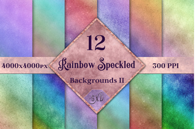 Rainbow Speckled Backgrounds Vol 2 - 12 Image Textures Set