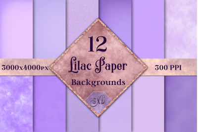 Lilac Paper Backgrounds - 12 Image Textures Set