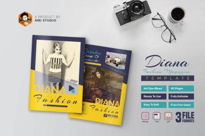 40 Page Diana Fashion Magazine Template