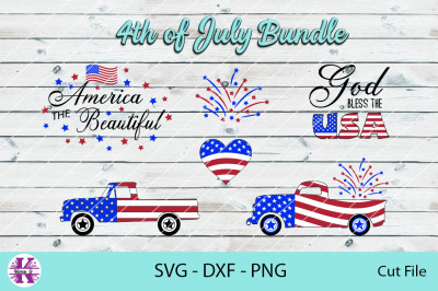 4th Of July Bundle - SVG DXF PNG - For Crafters