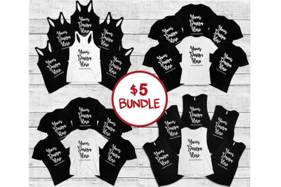 Bachelorette Group Bride Squad Mockup Bundle, Party Mock Up