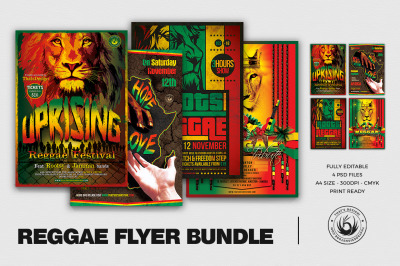 Reggae Flyer Bundle