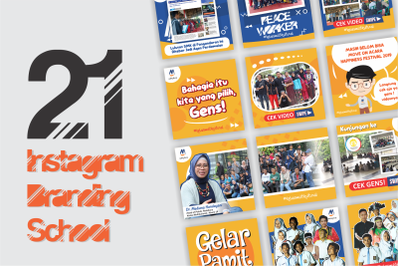 21 tamplate Instagram