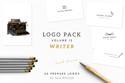Logo Pack Volume 12. Writer